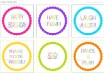 round circle labels for cake toppers