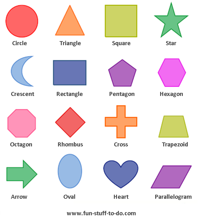 Worksheets Different Shapes And Names geometric shapes worksheets free to print print