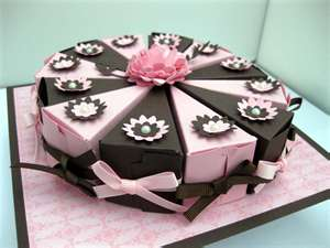 Single Tier Cake Made With Cake Slice Boxes