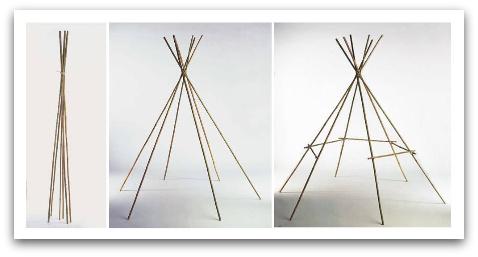 make a tipi, build a tipi, make a wigwam