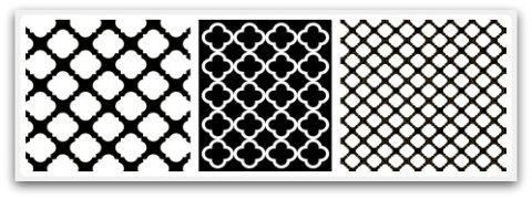 Geometric Shapes Quatrefoil
