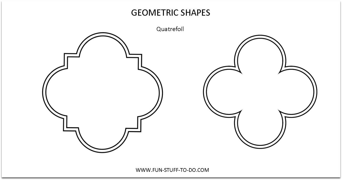 Geometric Shapes Quatrefoil Outline