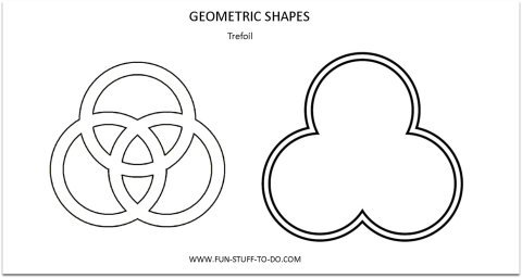 Geometric Shapes Trefoil Outline
