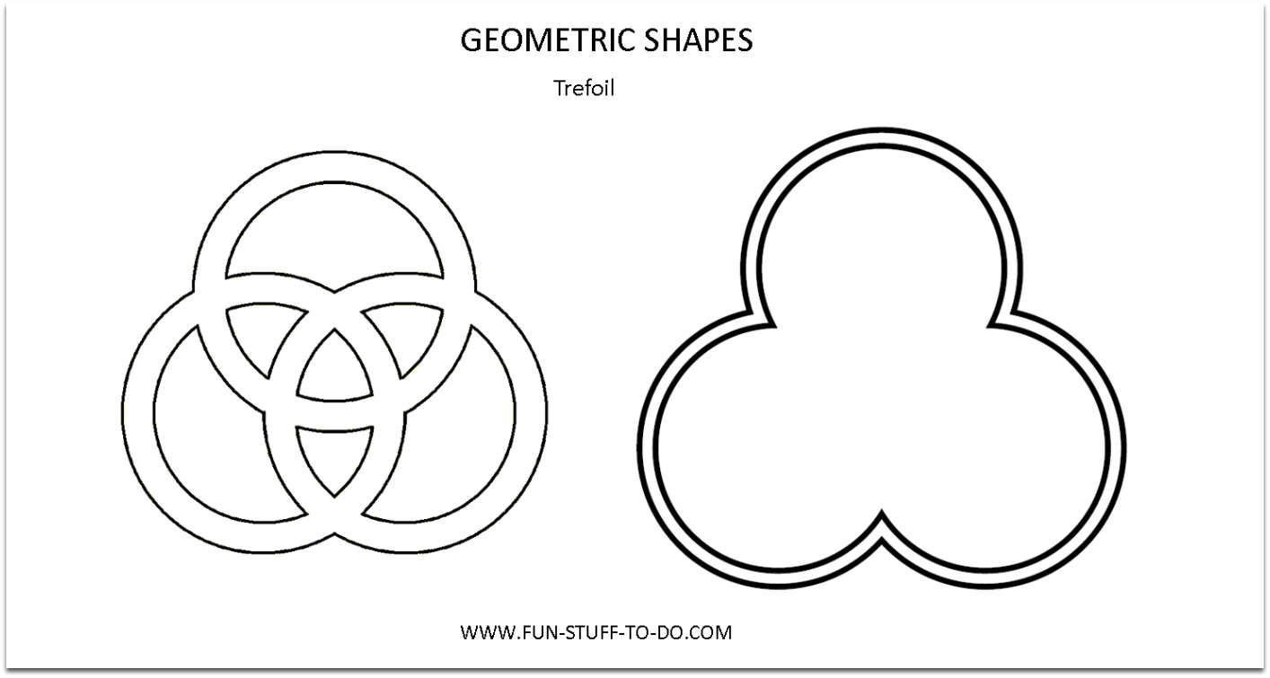 Geometric Shapes Trefoil Outline