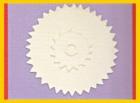 The 3 layer effect of embossing step 6