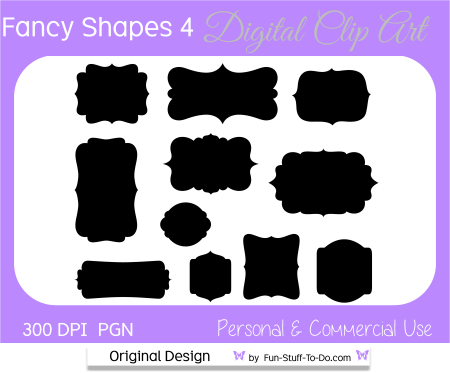 Fancy Shapes Bracket Labels