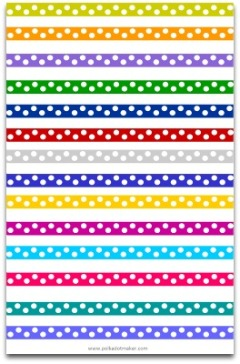 ribbon, lint, polka dot, polka dot paper, polka dot patterns, hot pink polka dots, lime gree polka dots, rainbow polka dots, blue and white polka dots