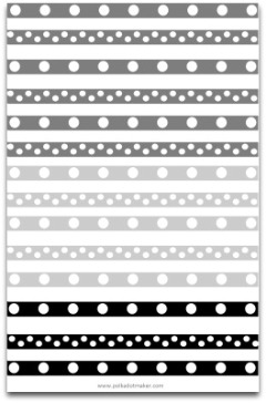 black and white polka dots, polka dot paper, polka dot decorations, polka dot border, polka dot scrapbook paper, gray polka dot