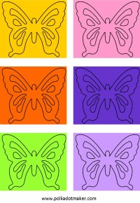 free butterfly labels, free tags, printable cards, cake toppers, straw decorations