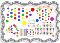 free, party, decorations, supplies, ideas, 1st, birthday, party, pack, party kit, ideas, birthday, decorating, kids, fun, polka dot, printable, free, pink, purple, red, green, yellow, ornage, silver