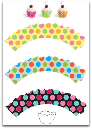 image about Printable Cupcake called Lovable Totally free Cupcake Wrappers Decorating Cupcakes
