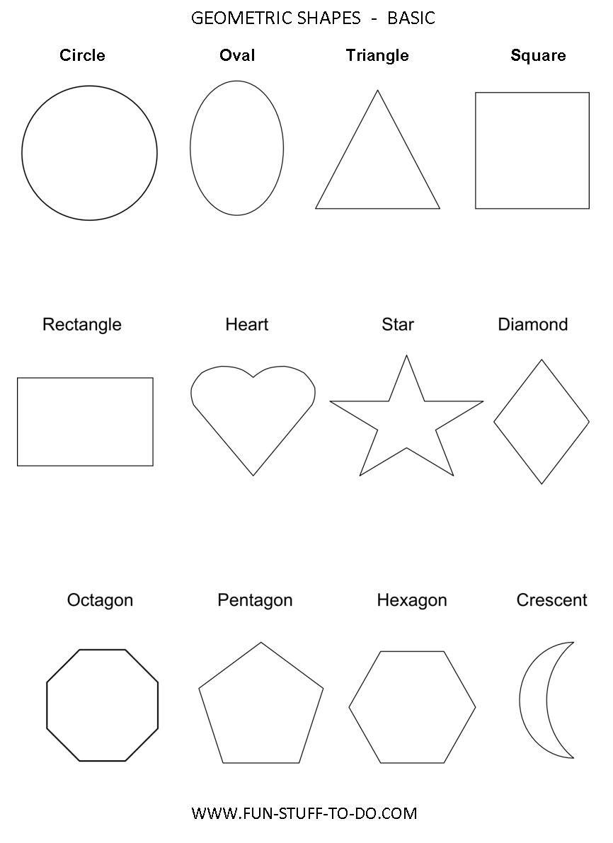 basic shapes more common 2 dimensional and 3 dimensional shapes