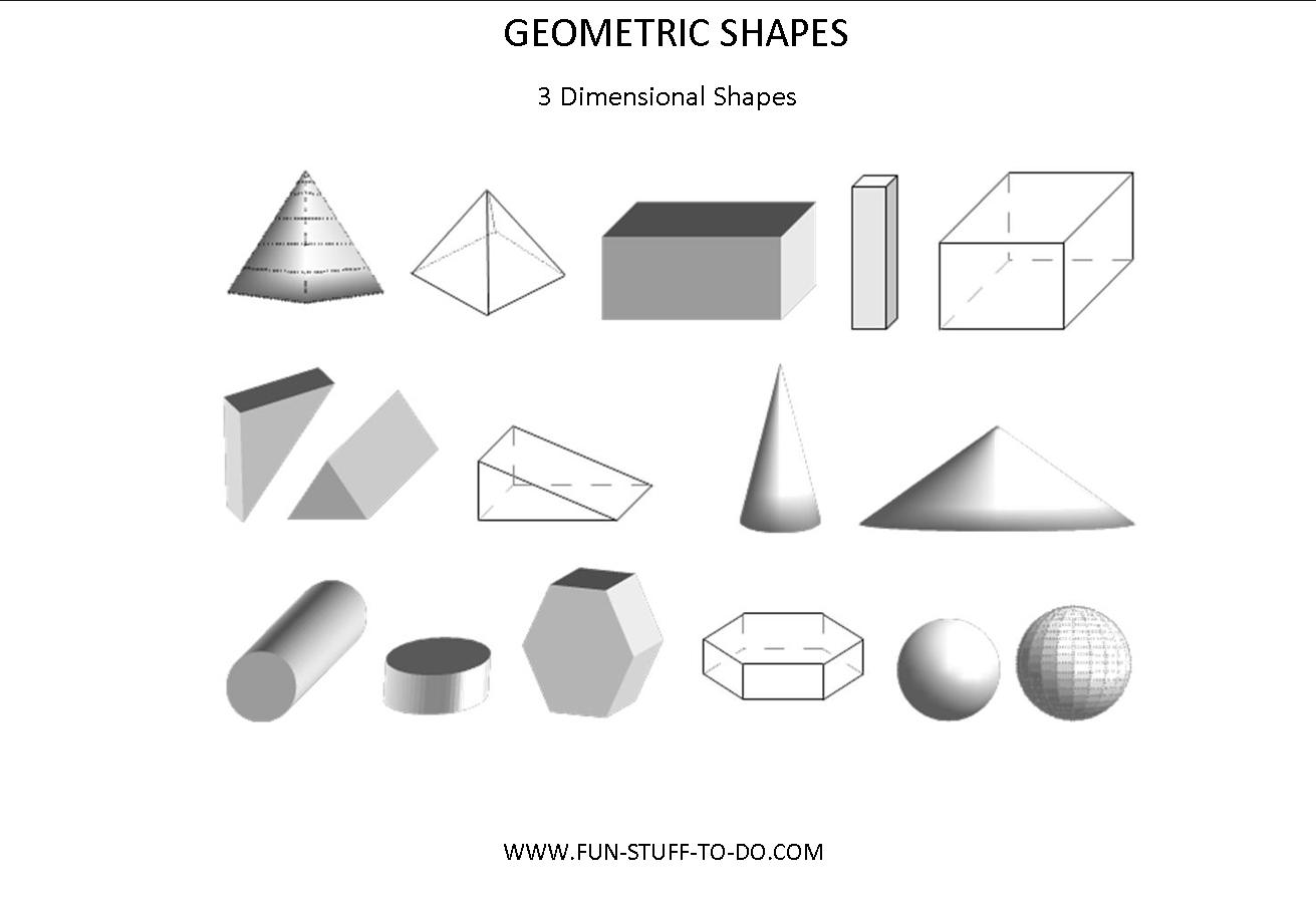 Worksheets Three Dimensional Shapes Worksheets 3 d solids lessons tes teach geometric shapes worksheets free to print