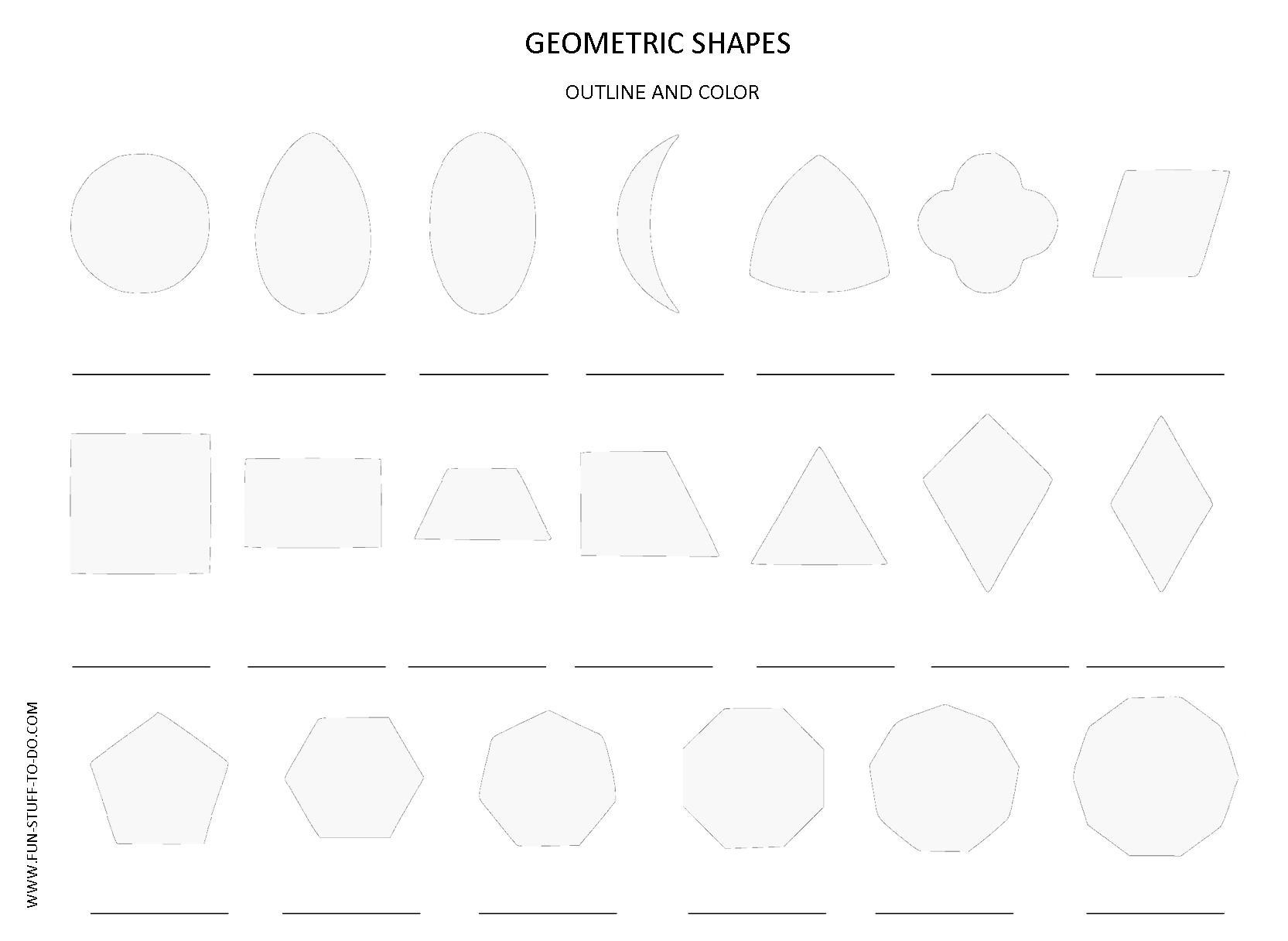 worksheet Polygon Shapes Worksheet geometric shapes worksheets free to print 2d color