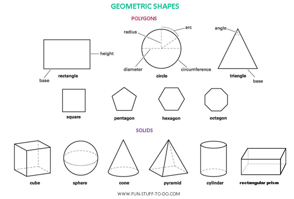 Geometric shapes worksheets free to print for 3 dimensional cube template