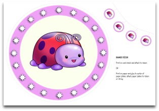banner, pennant, flag, ladybug, party, table place mat, decoration, birthday, purple, red, lavender, lilac, free, download, cute, sweet