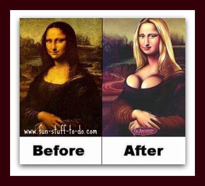 Picture jokes, Mona Lisa joke, email joke picture, funny joke picture, really funny picture jokes