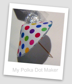 polka dots, party decorations, drink parasol, cute to make, umbrella
