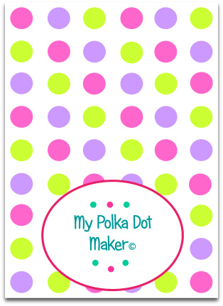 custom made polka dot template