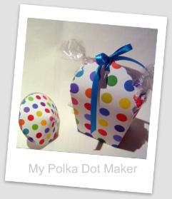 polka dots, party decorations, favor box, cute to make, favor bag, drink parasol