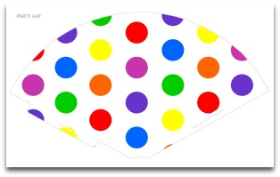 graphic about Party Hat Template Printable identified as Polka Dot Get together Decorations Cost-free Do-it-yourself Birthday Get together Resources