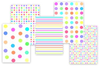 mixed candy color polka dots