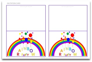 rainbow party decorations  fun diy parties and themes, party invitations