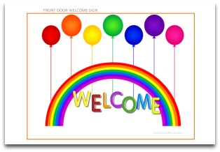 Welcome Sign Garden Party Decoration Ideas Birthday Decorating