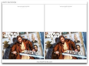 Free Star Wars Birthday Invitation Templates ~ Star wars party decorations