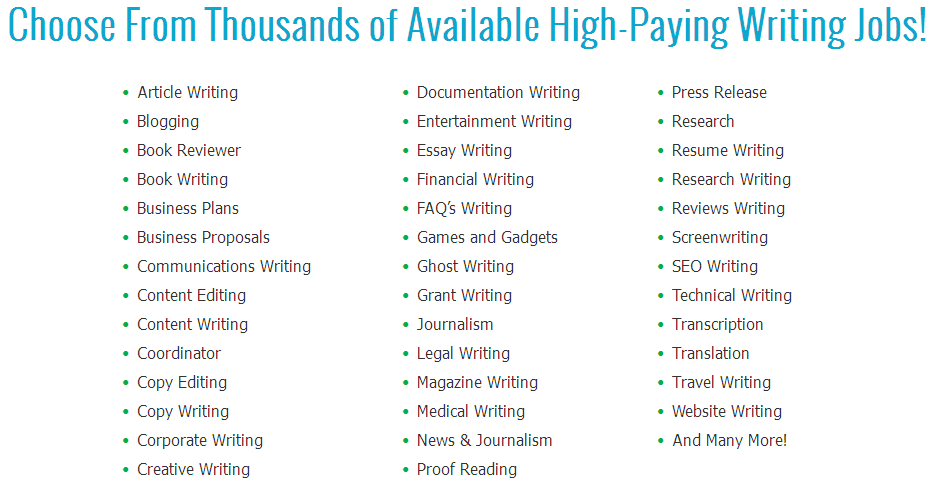 High-Paying Writing Jobs