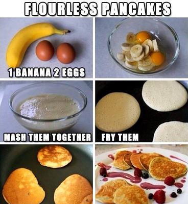 Banana Omelettes - Gluten Free Pancakes