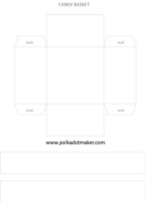 Candy Basket Template