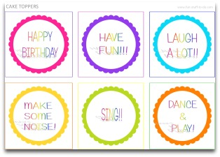 cake toppers, candy color cake toppers, free labels, free tags, birthday party decoration, party decorating ideas, theme party decorations, kids birthday party supplies, free party decorations