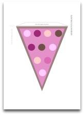 pink polka dots, pink bunting flag banner