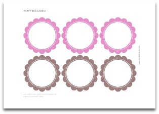 pink labels, chocolate brown labels