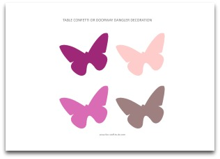 printable butterfly decorations