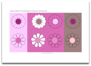 pink flower labels