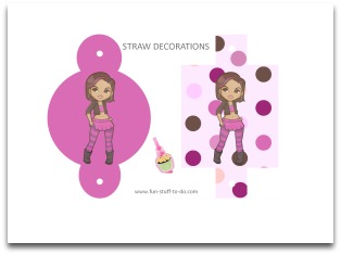 printable drinking straw decorations