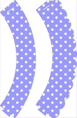 Blue Polka Dot Cupcake Wrappers