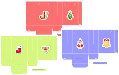 Christmas Favor Gift Bags   Free Printable