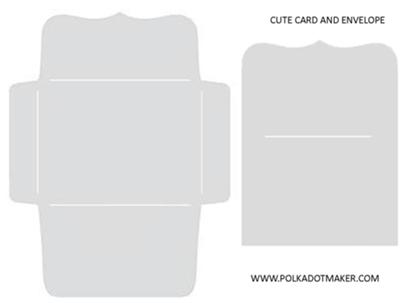 Cute Card and Envelope Template