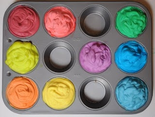 make paint with shaving cream