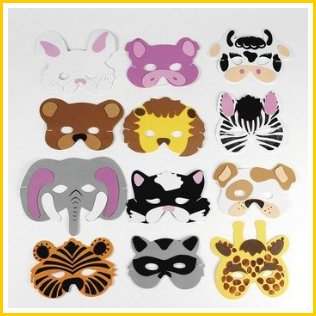 toddler animal face masks