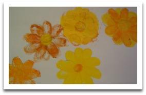 fingerprint flower, easy art
