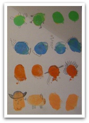 Thumbprint images, thumbprint art, fingerpaint