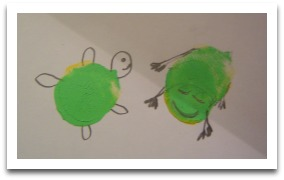 Fingerprint art for kids, thumbprints