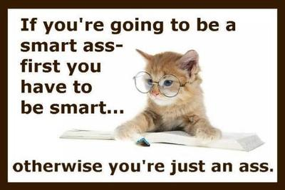 Funny Saying - Smart Ass