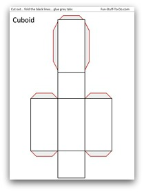 photo relating to Rectangular Prism Net Printable referred to as Printable Styles