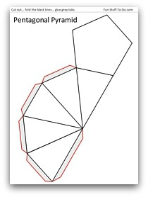how to draw a pentagonal pyramid