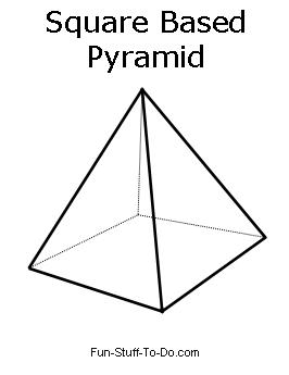 how to work out area of a square based pyramid